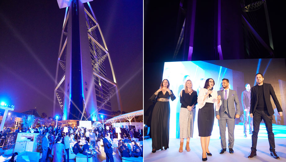 Global magician Dynamo performs at the prestigious Burj al Arab in Dubai