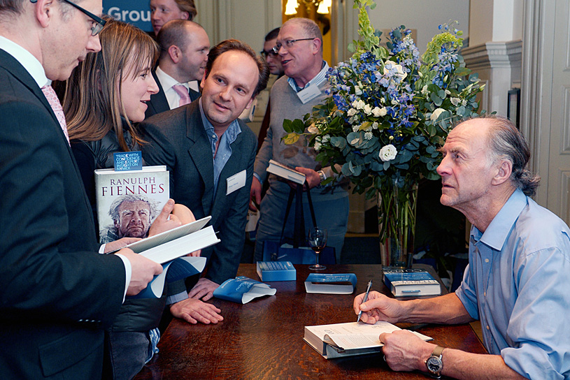 Sir Ranulph Fiennes book signing
